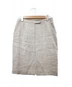 fabiana filippi(ファビアーナ フィリッピ)の古着「リネン100%スカート」|ベージュ