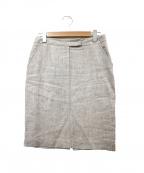 Fabiana Filippi()の古着「リネン100%スカート」|ベージュ