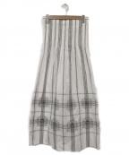 agnes b()の古着「ロングスカート」|ホワイト