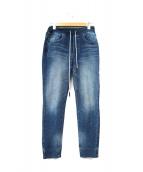 DOUBLE STANDARD CLOTHING(ダブルスタンダードクロージング)の古着「スウェットデニムパンツ」|ブルー