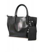 GIANNI CHIARINI(ジャンニ・キャリーニ)の古着「2wayハンドバッグ」|ブラック
