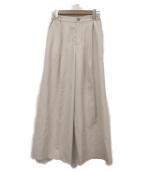 SLOBE IENA(イエナスローブ)の古着「リネン混パンツ」|ベージュ