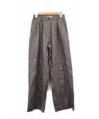 TODAYFUL(トゥデイフル)の古着「リネン100%パンツ」|ブラウン