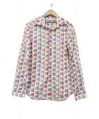 NARA CAMICIE(ナラカミーチェ)の古着「トロピカルフィッシュプリントシャツ」|ホワイト
