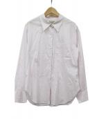 MARGARET HOWELL(マーガレットハウエル)の古着「SHEER COTTON SHIRT」|ピンク