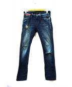 REPLAY(リプレイ)の古着「ストレッチスキニーデニムパンツ」 ブルー