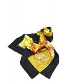 HERMES(エルメス)の古着「タロットカード柄スカーフ/カレ」 ネイビー