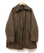 FENDI JEANS(フェンディ ジーンズ)の古着「ズッカ柄リバーシブルジャケット」|ブラウン