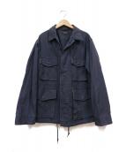 A vontade(アボンタージ)の古着「ファーティグミリタリージャケット」|ネイビー