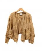 forte forte(フォルテフォルテ)の古着「デザインリネンジャケット」|ブラウン