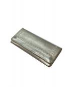 ebagos(エバゴス)の古着「メタリックレザー ソフト長財布」|シルバー