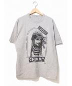 kolor/BEACON(カラービーコン)の古着「チャッキーTシャツ」|グレー
