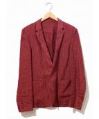 LAD MUSICIAN(ラッドミュージシャン)の古着「リネンテーラードジャケット」|レッド