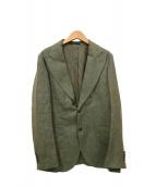 ARTISAN(アルティザン)の古着「リネン混ジャケット」|グリーン