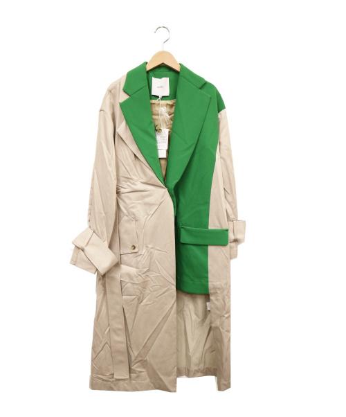 UN3D.(アンスリード)UN3D. (アンスリード) ドッキングトレンチコート グリーン サイズ:38 未使用品の古着・服飾アイテム