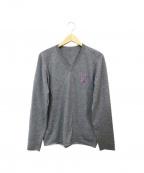 lucien pellat-finet(ルシアン・ペラフィネ)の古着「スカルワンポイントニット」|グレー