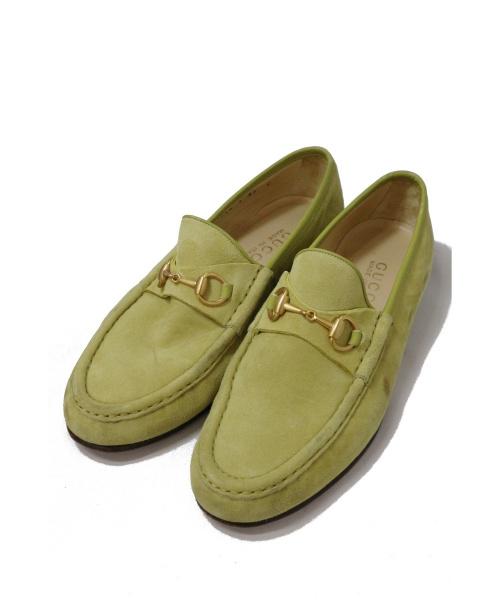 GUCCI(グッチ)GUCCI (グッチ) ホースビットローファー ライトグリーン サイズ:37C イタリア製の古着・服飾アイテム