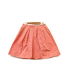 MIU MIU(ミュウミュウ)の古着「ミディスカート」|ピンク