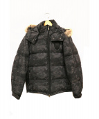 lucien pellat-finet(ルシアンペラフィネ)の古着「スカルカモ柄ダウンジャケット」|グレー