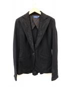 POLO RALPH LAUREN(ポロラルフローレン)の古着「装飾ピークトラペルテーラードジャケット」|ブラック