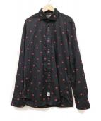 HYDROGEN(ハイドロゲン)の古着「リップ総柄ドレスシャツ」 ブラック