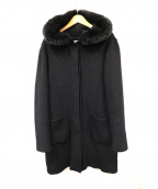 Harrods(ハロッズ)の古着「リブニットコート」|ブラック