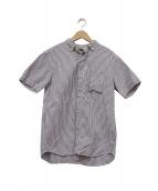 LOLO(ロロ)の古着「比翼半袖シャツ」|ブルー