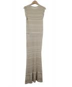 CELFORD(セルフォード)の古着「透かし編みレースニットワンピース」|ブラウン