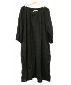 si-si-si(スースースー)の古着「ベルト付きリネンワンピース」|ブラック