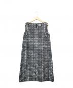 Sono(ソーノ)の古着「刺繍ノースリーブワンピース」 ブラック