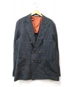 BRUNELLO CUCINELLI(ブルネロクチネリ)の古着「リネン混ダブルジャケット」|グレー
