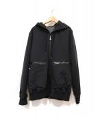 TATRAS(タトラス)の古着「フード付ジャージージャケット」|ブラック