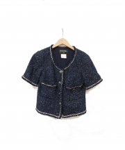CHANEL(シャネル)の古着「S/Sツイードジャケット」|ブルー
