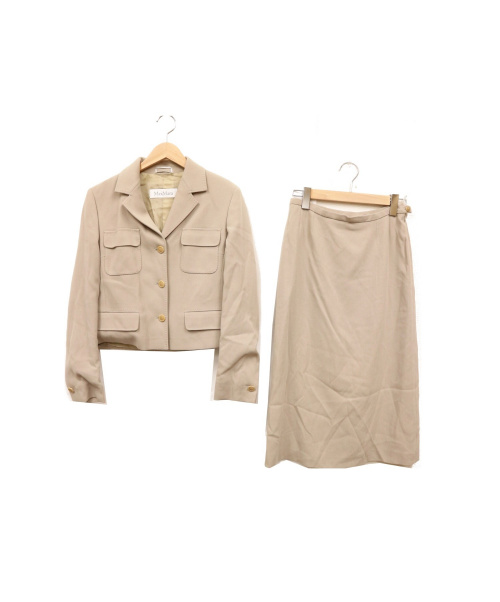 MaxMara(マックスマーラ)MaxMara (マックスマーラ) セットアップスーツ グレー サイズ:40 イタリア製の古着・服飾アイテム