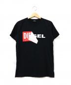 DIESEL()の古着「ロゴTシャツ」|ブラック