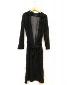 agnes b(アニエスベ)の古着「ロングカーディガン」|ブラック