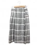 ARTISAN(アルチザン)の古着「リネンキルトスカート」 グレー