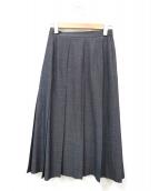 Aquascutum(アクアスキュータム)の古着「プリーツスカート」|グレー