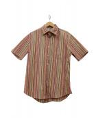Paul Smith(ポールスミス)の古着「半袖ストライプシャツ」|マルチカラー