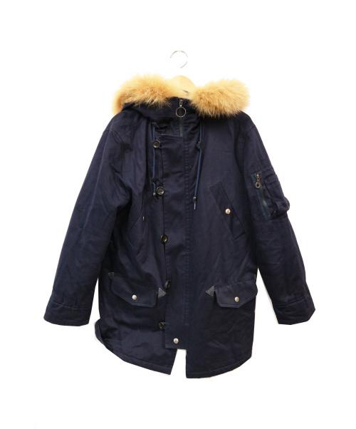 A.P.C.(アーペーセー)A.P.C. (アーペーセー) フォックスファー付N-3Bコート ネイビー サイズ:Sの古着・服飾アイテム