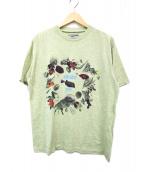 KENZO JEANS(ケンゾージーンズ)の古着「貝殻プリントTシャツ」|グリーン