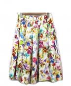 DOUBLE STANDARD CLOTHING(ダブルスタンダードクロージング)の古着「花柄ミディスカート」 ホワイト