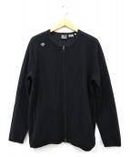 DESCENTE(デサント)の古着「ウールノーカラージャケット」 ブラック