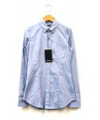 DSQUARED2(ディースクエアード)の古着「ドット刺繍ボタンダウンシャツ」|ブルー