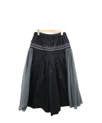 FRAPBOIS(フラボア)の古着「エンブパンツ」|ブラック