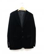 EPOCA UOMO(エポカウォモ)の古着「ベロアテーラードジャケット」|ブラック