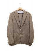 DRESSTERIOR(ドレステリア)の古着「千鳥柄テーラードジャケット」 ブラウン