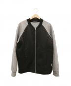 T by ALEXANDER WANG(ティーバイアレキサンダーワン)の古着「ボンディングジャージーMA-1ジャケット」 グレー