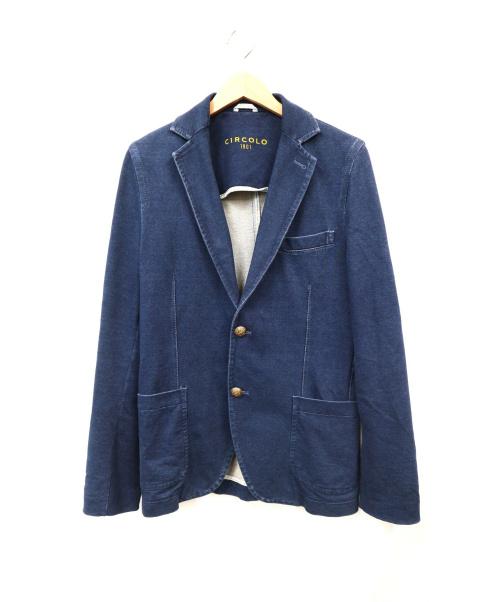 Circolo 1901(チルコロ1901)Circolo 1901 (チルコロ1901) インディゴテーラードジャケット ネイビー サイズ:44の古着・服飾アイテム