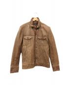 Paul Smith JEANS(ポールスミスジーンズ)の古着「シングルレザージャケット」|ブラウン